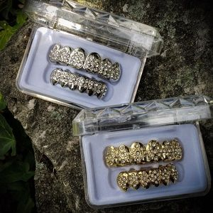Iced Out Custom Gold Or Silver Grillz Set
